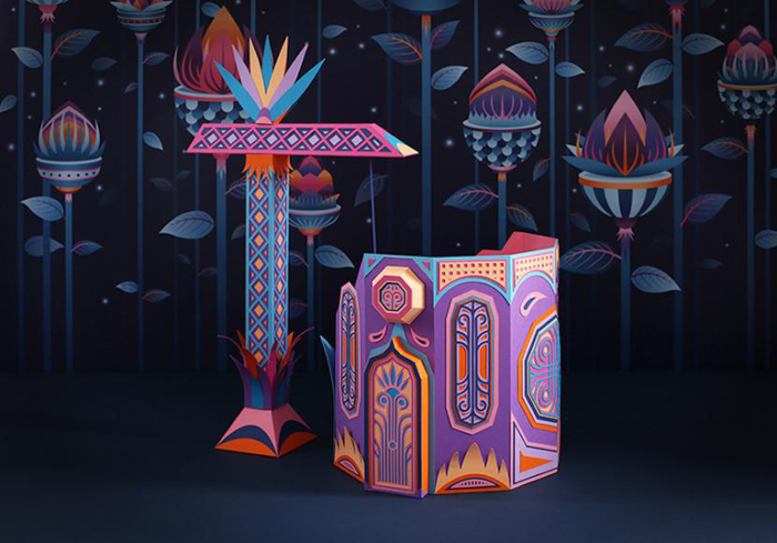 French duo Zim & Zou for Hermès: an amazing paper installation in Dubai