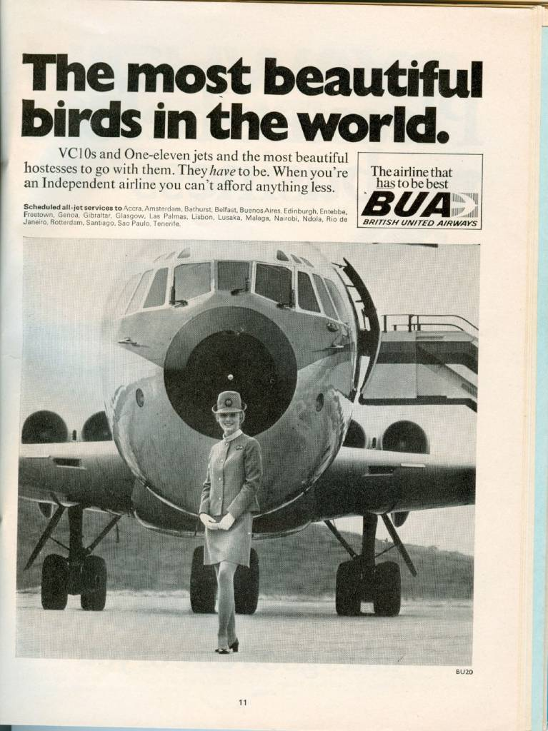 1969-BUA-British-United-Airways-Advert-VC10-Stewardess-thechicflaneuse