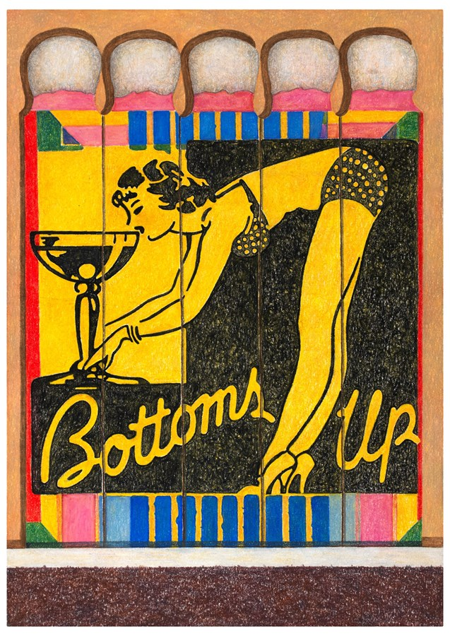 Bottoms Up Matchbook, 2016© Aaron Kasmin, Courtesy of Sims Reed Gallery