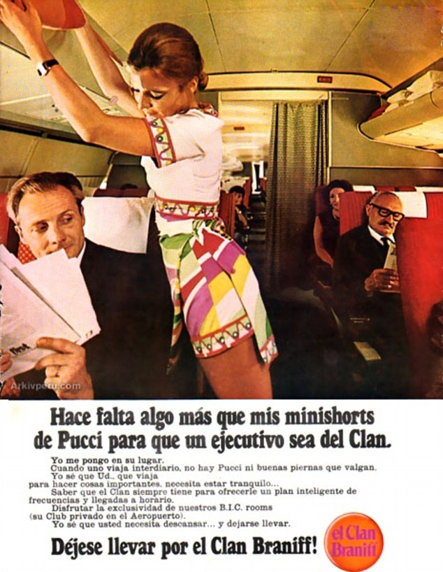 Braniff Airlines Pucci vintage ad stewardess thechicflaneuse