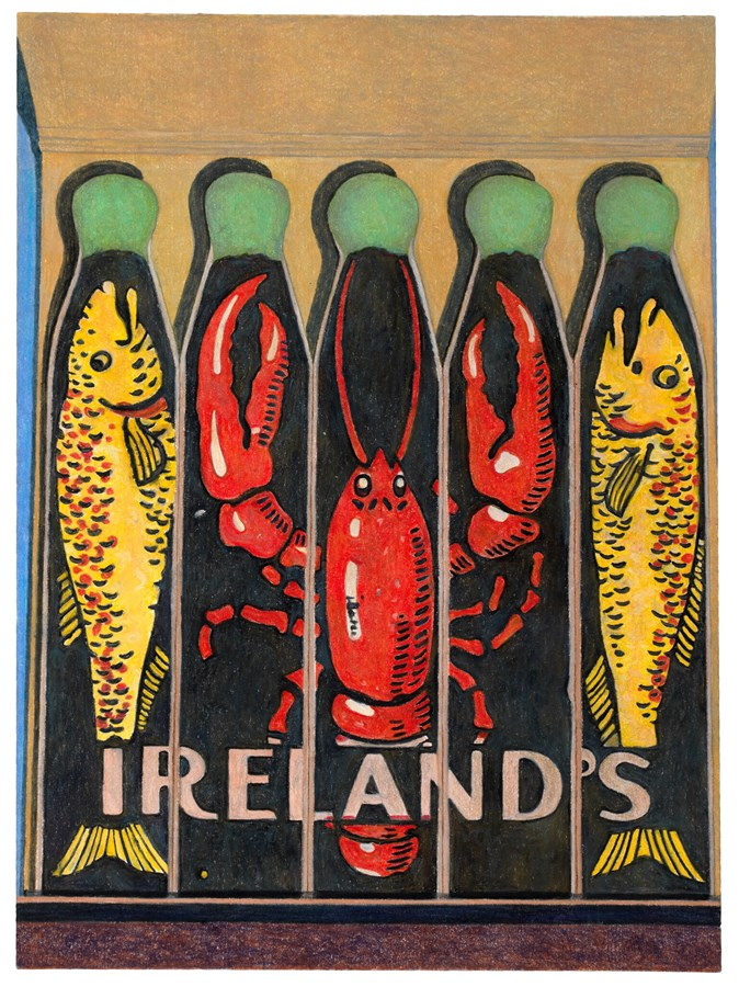 Ireland's Oyster House Matchbook, 2016© Aaron Kasmin, Courtesy of Sims Reed Gallery