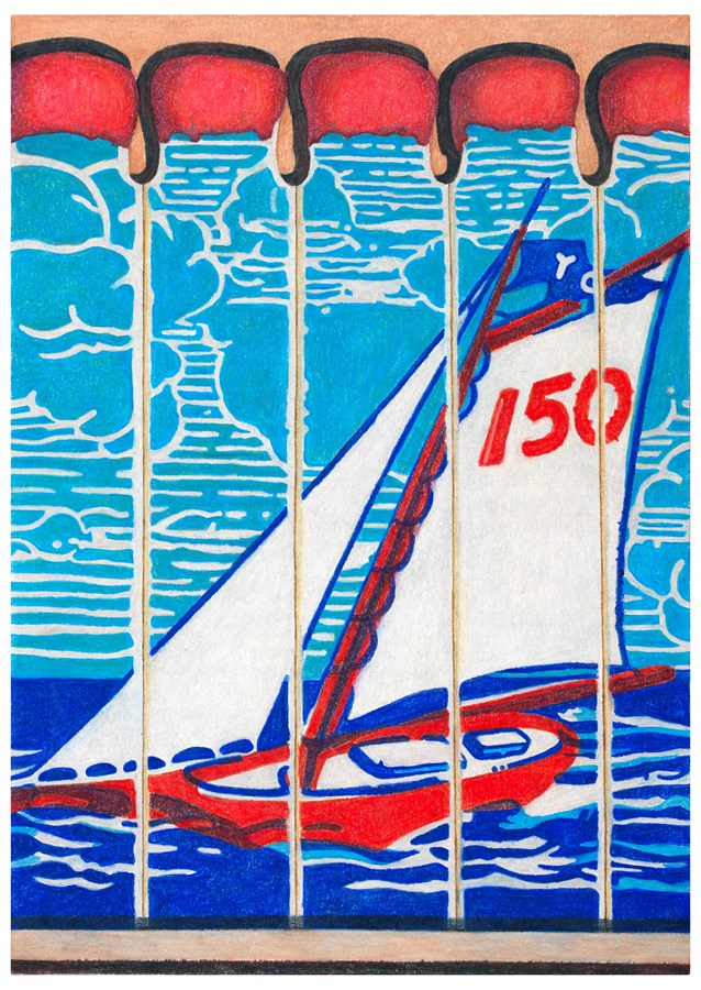 New York Yacht Club City Matchbooks, 2016© Aaron Kasmin, Courtesy of Sims Reed Gallery