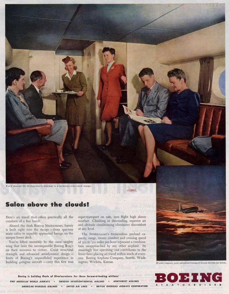 Salon-above-the-clouds-Boeing-1950-for-major-airlines-stewardess-thechicflaneuse