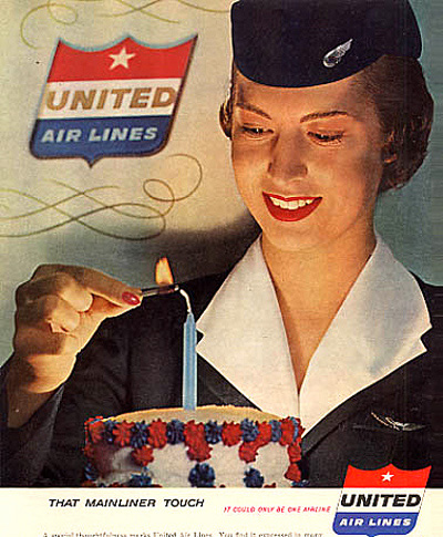 United-Air-Lines-vintage ad stewardess thechicflaneuse