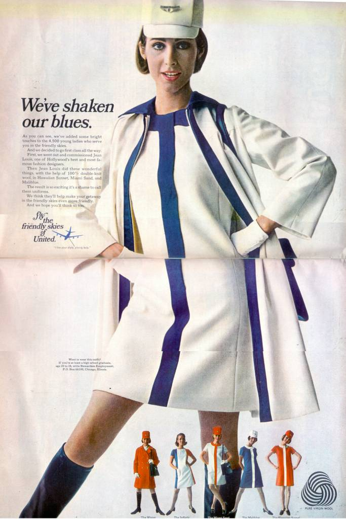 United-Airlines-stewardess-1968-thechicflanesue