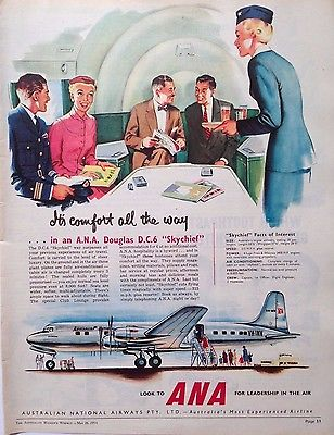 comfort all the way ANA stewardess vintage ad the chicflaneuse