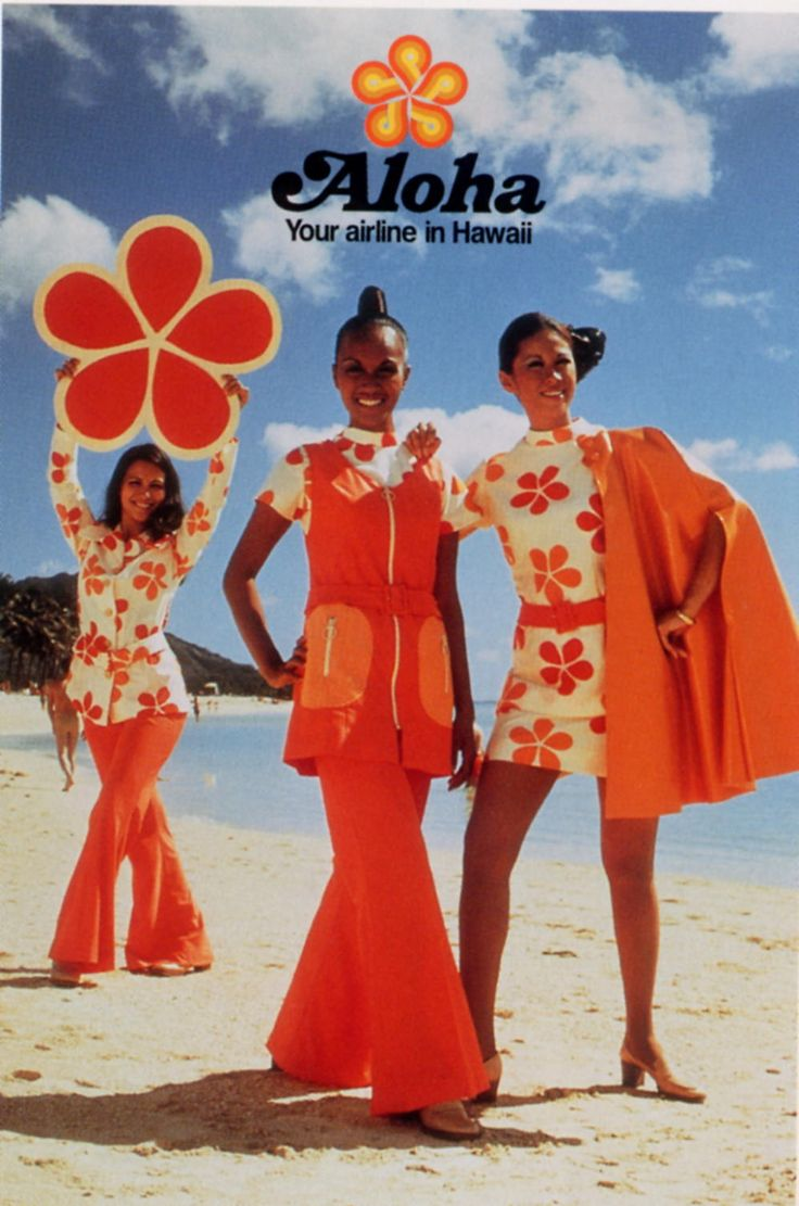 hawain airline vintage ad stewardesses thechicflaneuse
