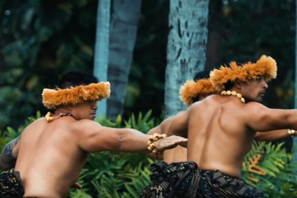 hula dancers in ohau hawaii dancing and training like ancient warriors