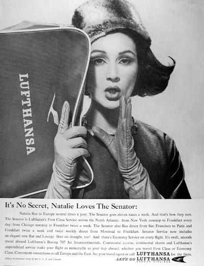 lufthansa vintage ad-thechicflaneuse