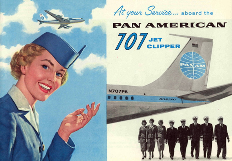 pan-am-illustration-clipper stewardess -thechicflaneuse
