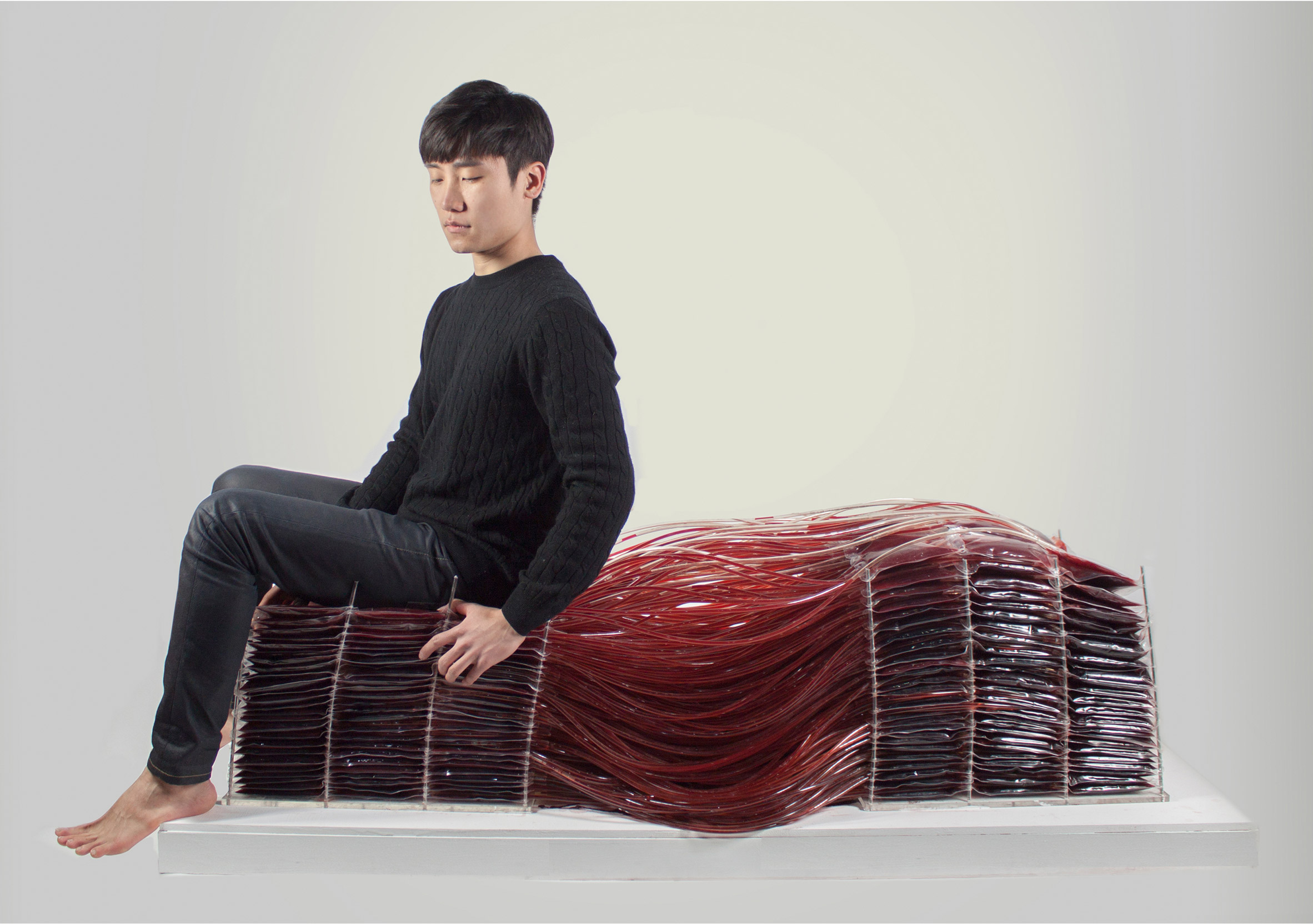 red series chair made of blood by Hyun-Gi Kim the chic flaneuse