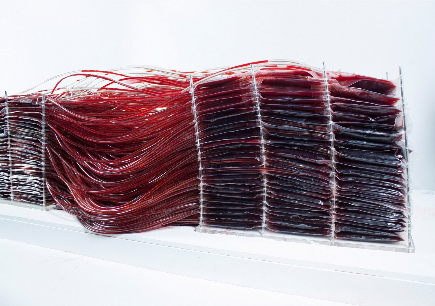 red series chair made of blood by Hyun-Gi Kim the chic flaneuse 2