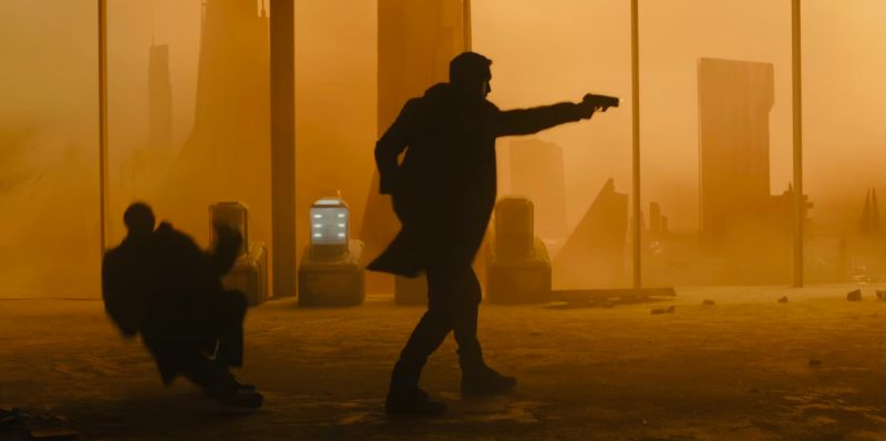 ryan gosling as lapd K in blade runner 2049