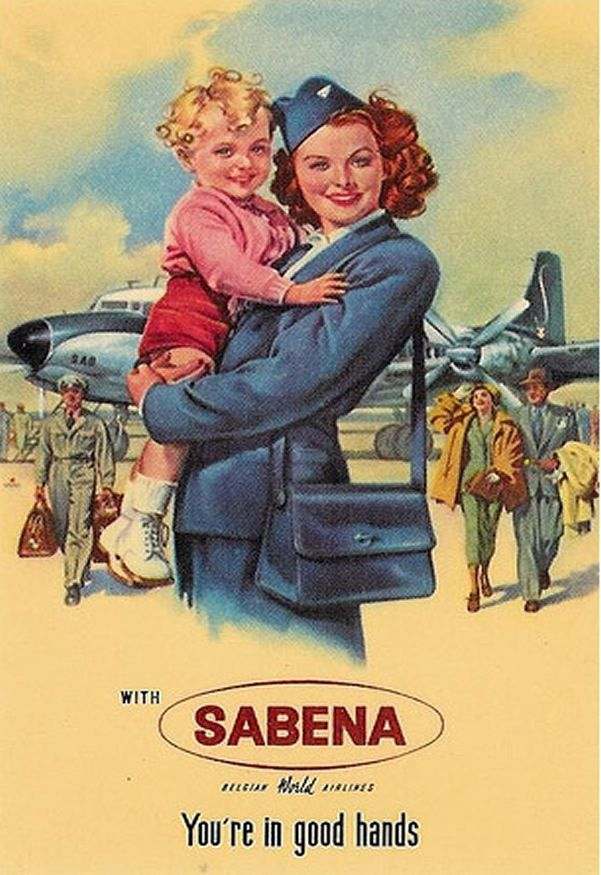 sabena airline stewardess-vintage ad-thechicflaneuse