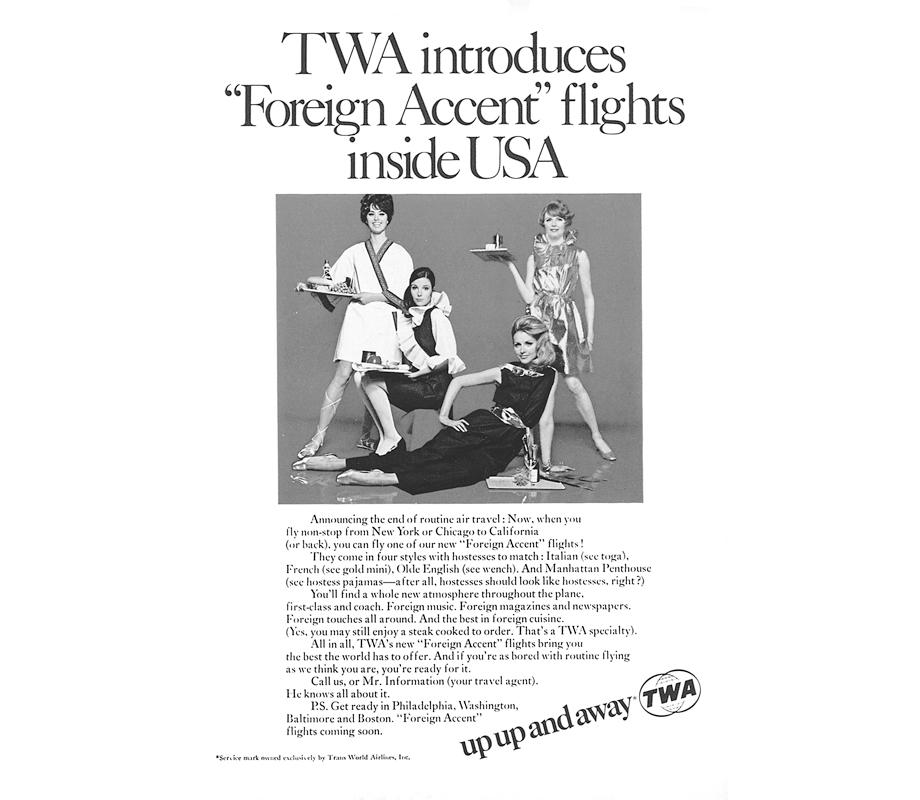 twa vintage ad stewardess 1968-thechicflaneuse