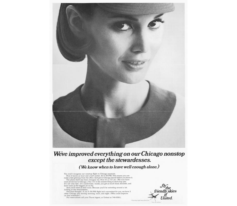 united airlines 1968 vintage ad stewardess-thechicflaneuse