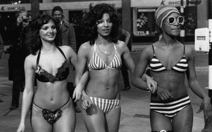 Funny bikini in the 70s