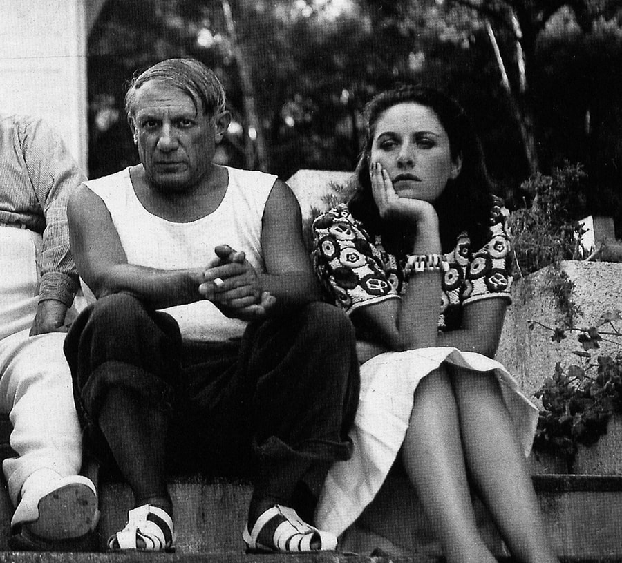 pablo picasso and dora maar photographed by Man Ray