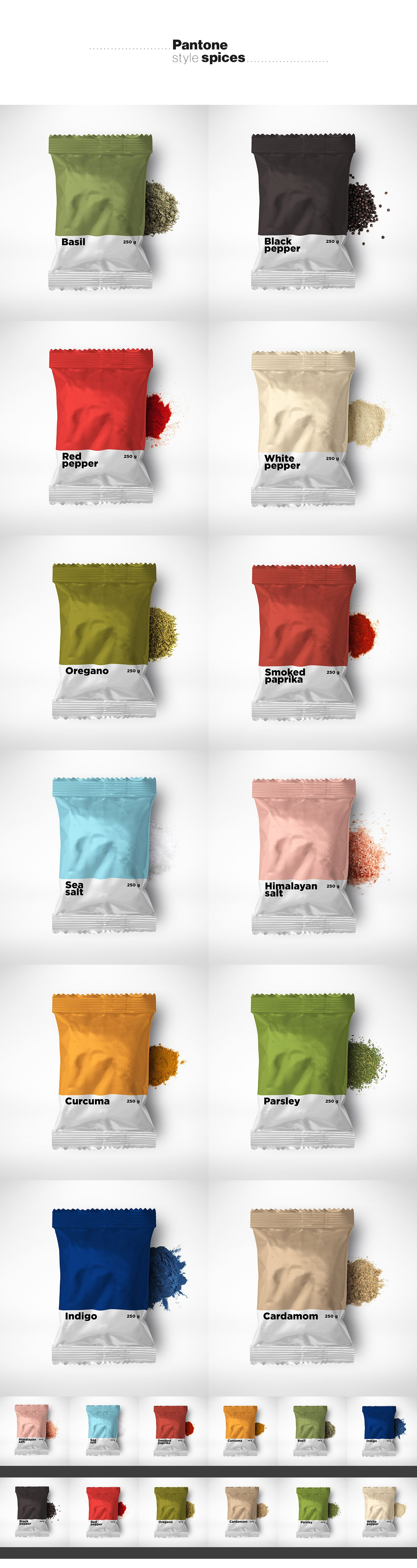 Pantone Style Spices Project