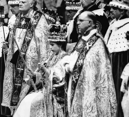queen elisabeth coronation day and bishop
