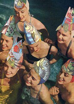 swim caps fashion show thechicflaneuse