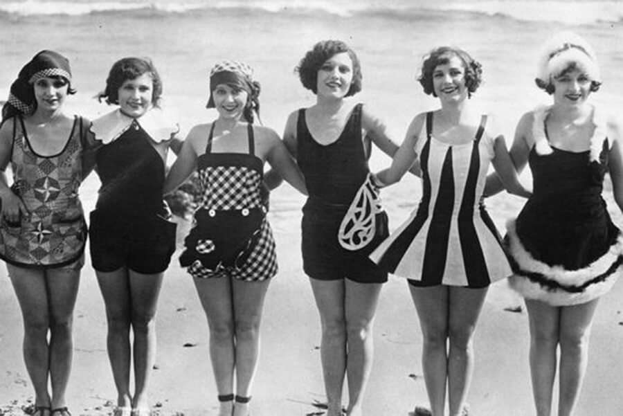 swimming suits in the 20s and 30s