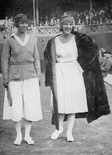 1922 Mrs Mallory and Suzanne Lenglen