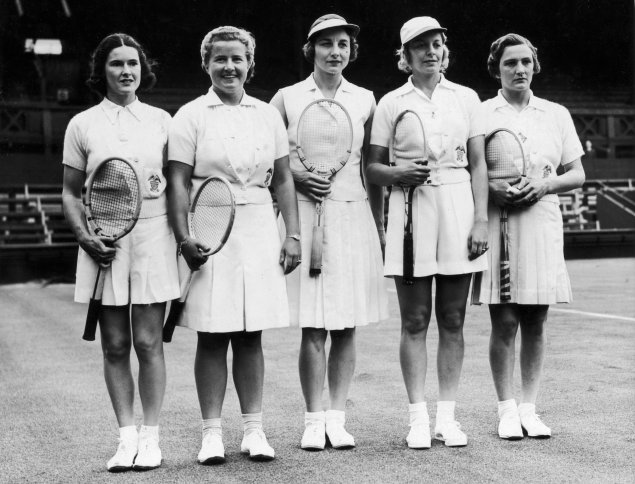 1938 American Wightman Cup Team in Wimbledon – Photo Getty Images - thechicflaneuse