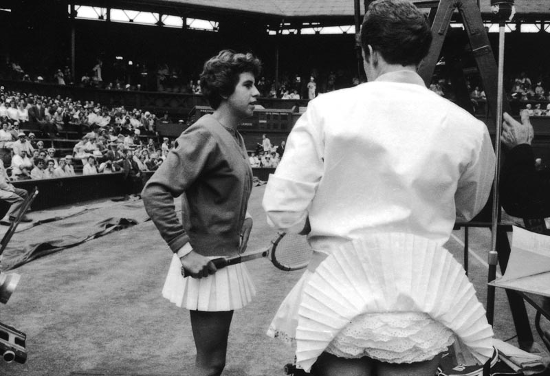 1959 Maria Bueno (left) and Sally Moore