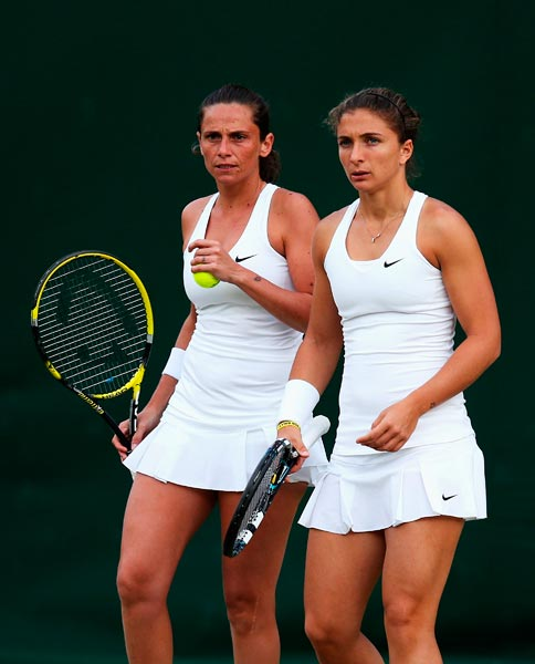2014 Roberta Vinci (left) and Sara Errani
