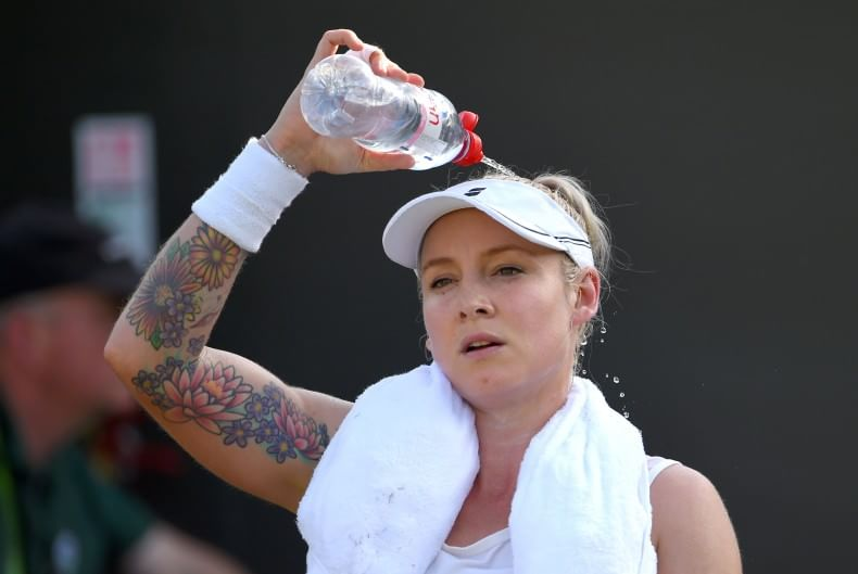 2015 Bethanie Mattek-Sands with her tatoo