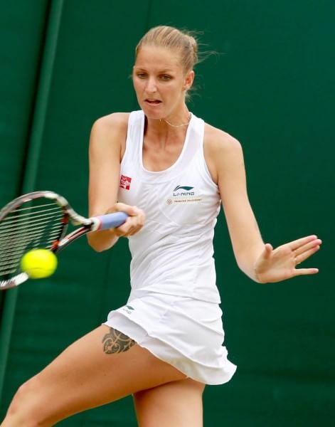 2015 Karolina Pliskova with tatoo