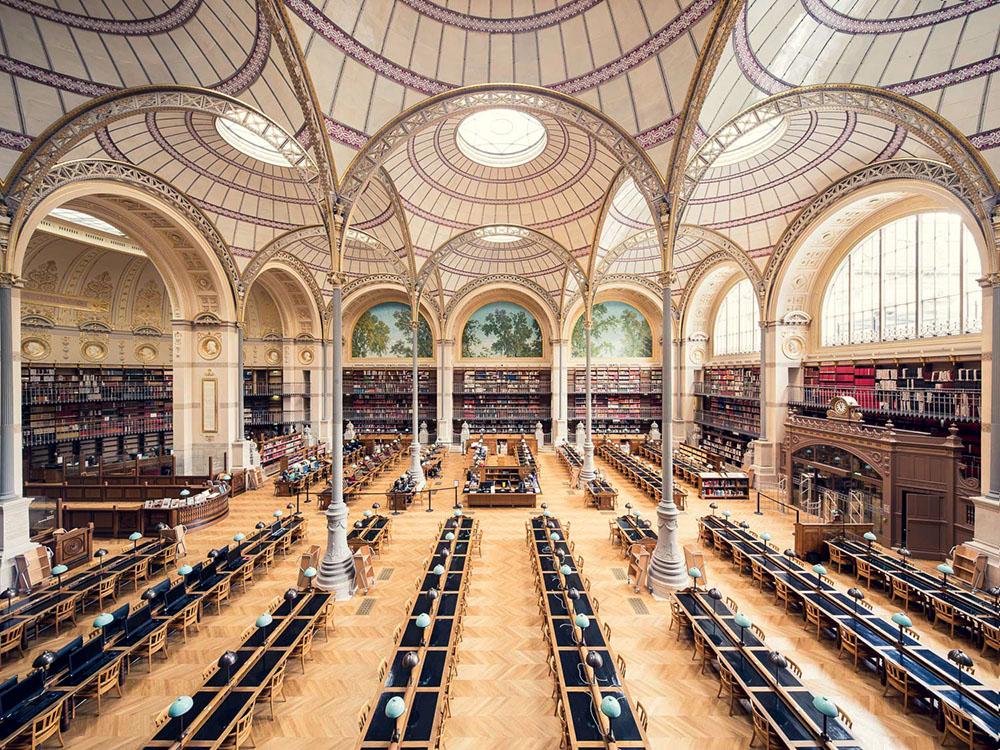 Bibliothèque Nationale de France, Salle Labrouste, Paris, 1868 - Thibaud Poirier - thechiflaneuse