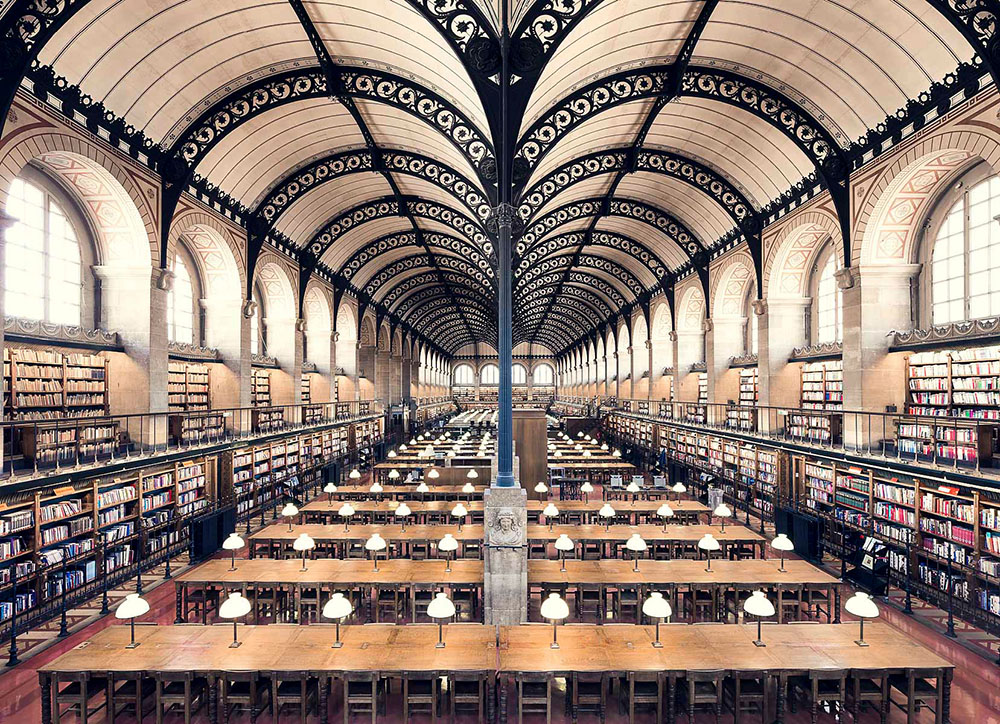 Bibliothèque Sainte-Geneviève, Paris, 1850 - Thibaud Poirier - thechicflaneuse