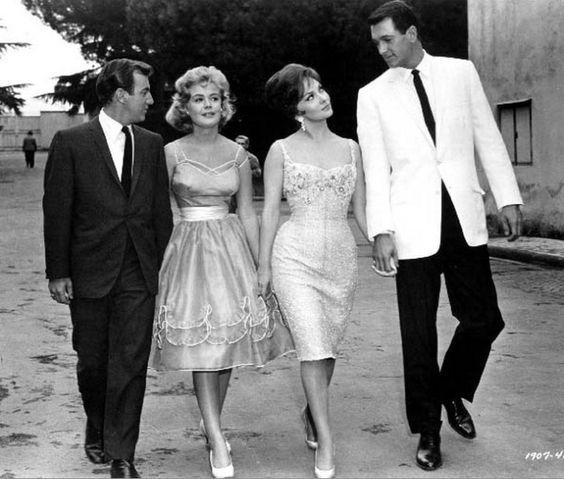 Bobby Darin, Sandra Dee, Gina Lollobrigida, and Rock Hudson