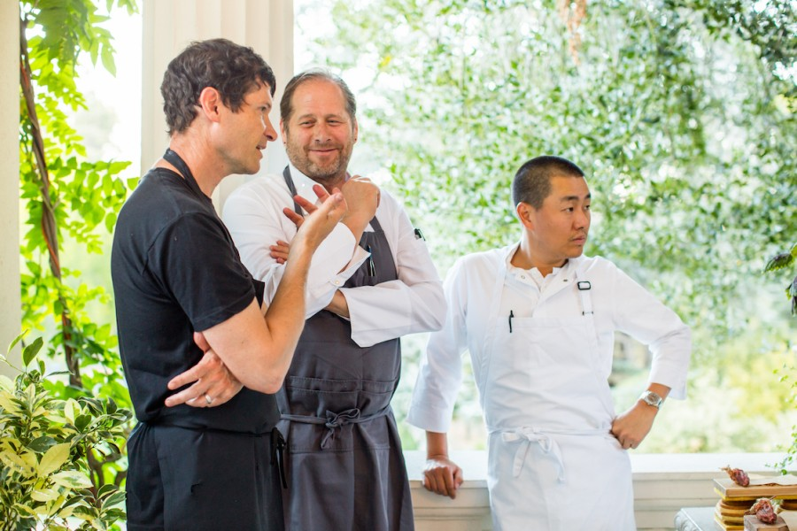 Chefs Daniel Patterson, David Kinch and Corey Lee during Steinbeisser's Experimental Gastronomy at the Villa Montalvo in Saratoga, California.