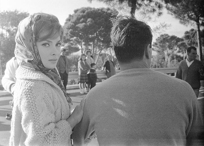 Gina Lollobrigida e Rock Hudson durante le riprese del film Torna a Settembre, 1961. ANSA