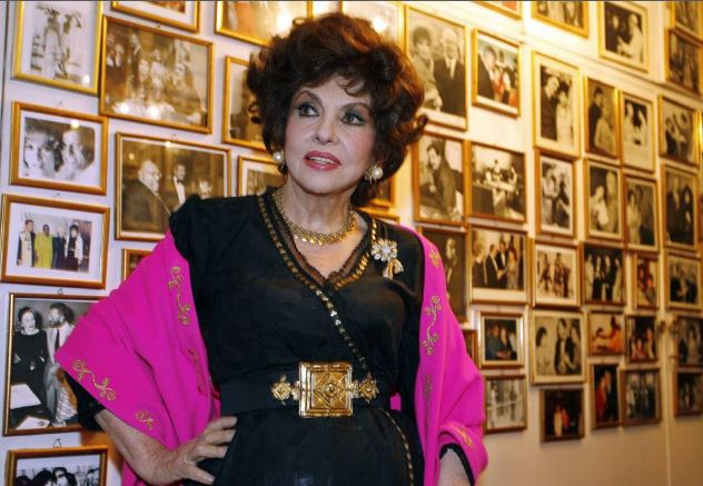 Gina Lollobrigida in her home in Rome