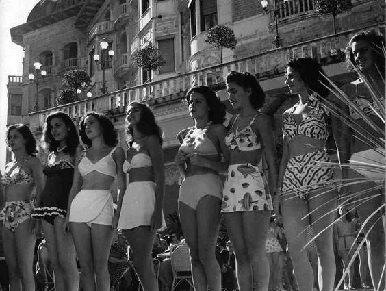 Miss Italia 1947 Gina Lollobrigida third from left