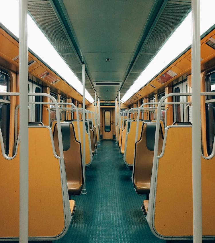 Metro train in Brussels - accidental wes anderson - thechicflaneuse