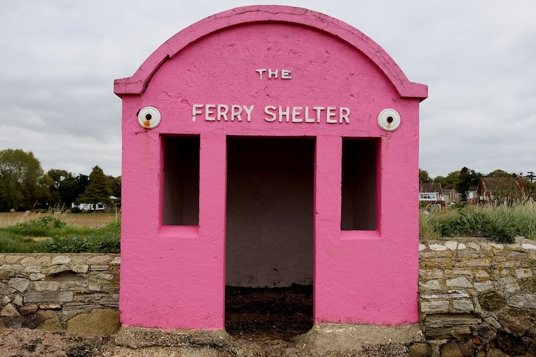 Hamble-Warsash Ferry Shelter in Hampshire, UK - accidental wes anderson - thechicflaneuse