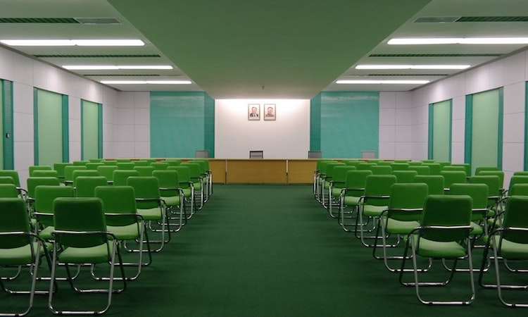Conference Room in North Korea - accidental wes anderson - thechicflaneuse