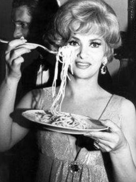 gina lollobrigida eating spaghetti 1964