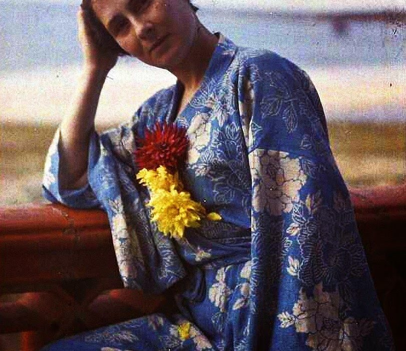gustave gain autochrome portrait french woman 1920s