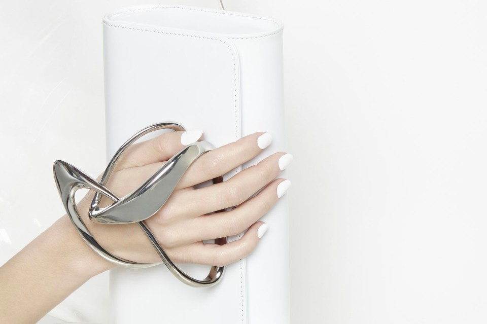 zaha-hadid-perrin paris glove-clutch-color white
