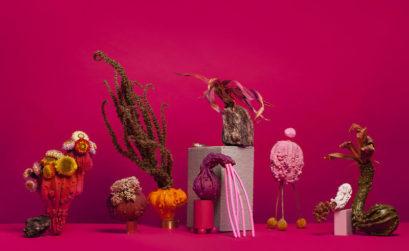 Sara Ricciardi - funeral parade - ornamental pumpkins composition