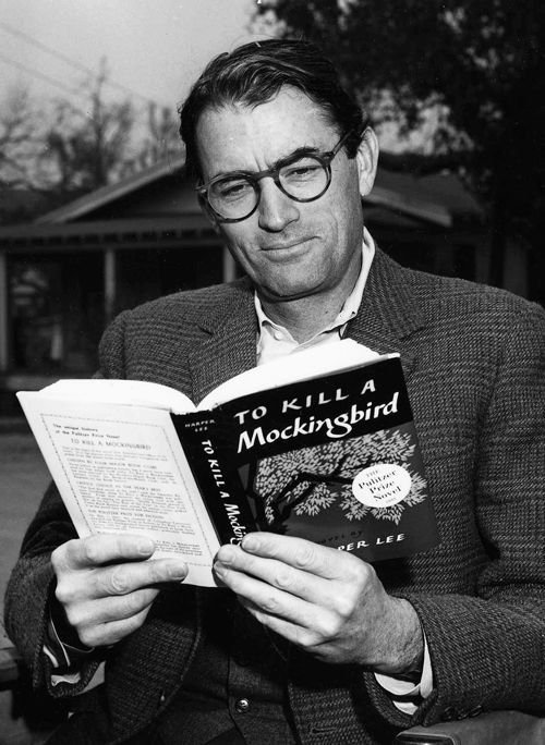 Gregory Peck reading to kill a mocking bird