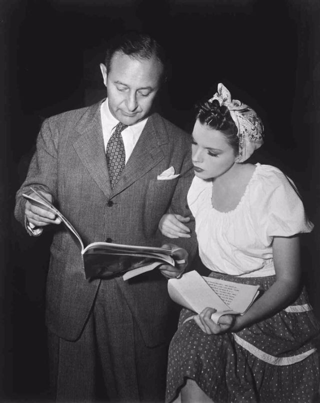 Arthur Freed and Judy Garland