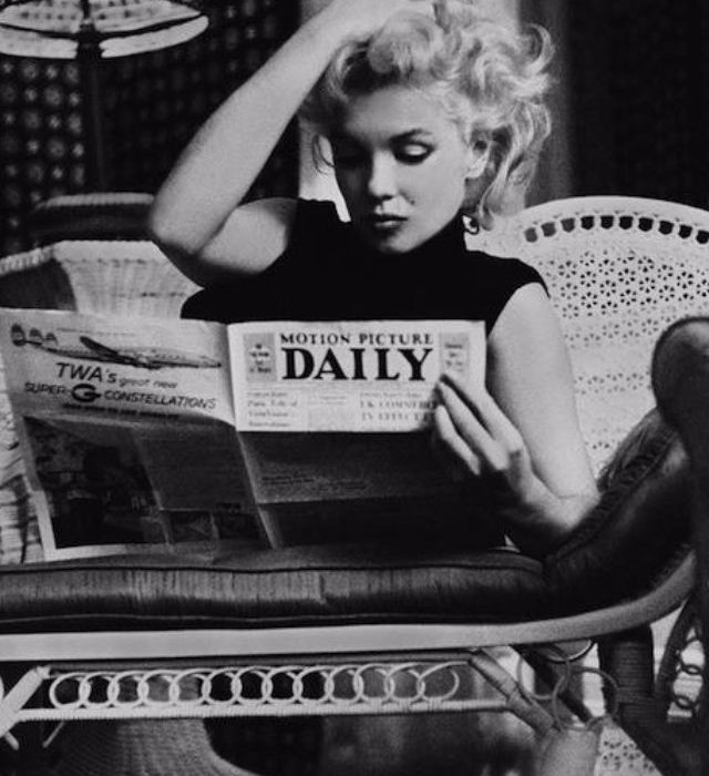 Even movie stars read 54 vintage black and white photos of