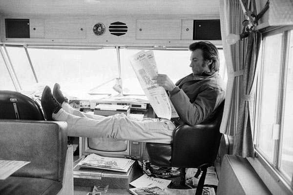 Clint Eastwood reading